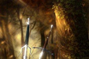 HDFantasy Wallpaper Swords