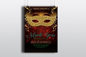 Mardi Gras Invitation Flyer V741