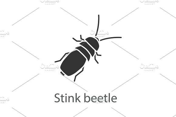 Stink beetle glyph icon