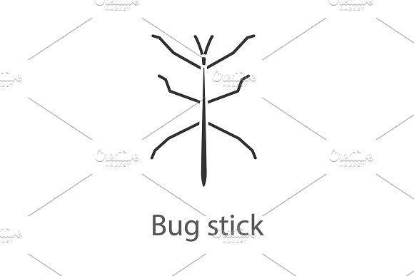 Stick Bug Glyph Icon