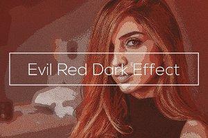 Evil Red Dark Effect