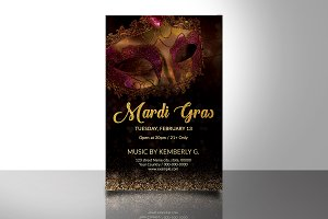 Mardi Gras Flyer Template V742