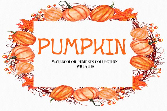 Watercolor Pumpkin Illustration in Illustrations