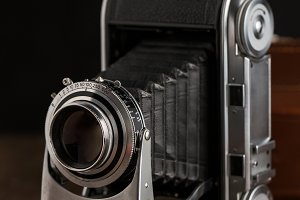 Film folding camera