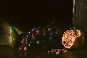 Vintage fruits still life