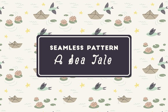 A Sea Tale - Seamless Pattern