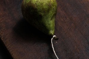 Pear with rope