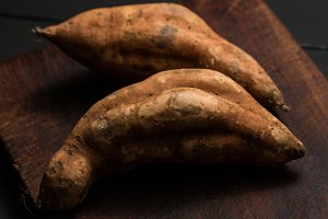 Rustic sweet potatoes