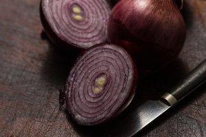 Fresh rustic onions