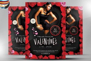 Valentines Live Show Flyer Template