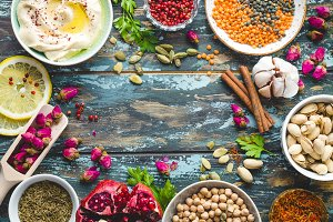 Arab ingredients for middle eastern food