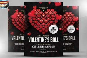 Valentine's Ball Flyer Template