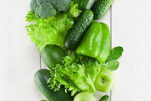Green fresh vegetables