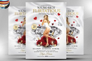 Young Rich and Flirtatious PSD Flyer