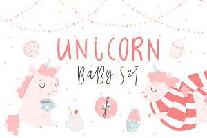 Unicorn - baby set