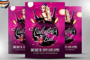 The Luxury Valentine's Ball Flyer