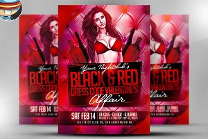 Valentine's Day Black & Red Flyer