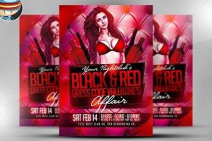 Valentine's Day Black & Red Flyer
