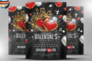 Valentine's Ball Flyer Template 2