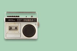 Radio and cassette recorder