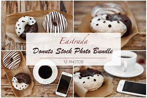 Lifestyle Donuts Stock Photo Bundle
