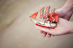 Tiny toy boat