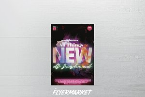 All Things New Party Flyer Template