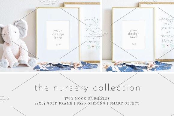 Gold Frame Mockup - Styled Stock
