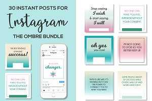 30 Instagram Quote Posts Ombre
