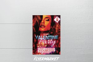 Valentine's Party Flyer Template v2