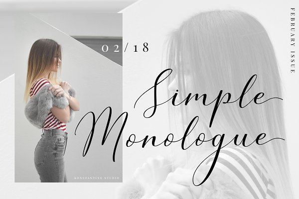 Simple Monologue - Beauty Font
