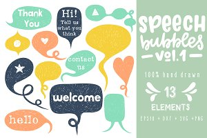 -50%Speech Bubbles collection.Vol. 1