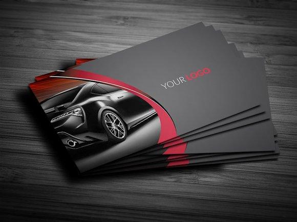 Rent a car business card business card templates creative market reheart Gallery