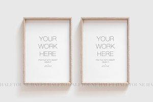 Mockup set of 2 Frames,Frames Mockup
