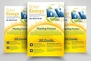 Solar Panel Energy Flyer Template