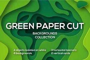 Green Paper Cut