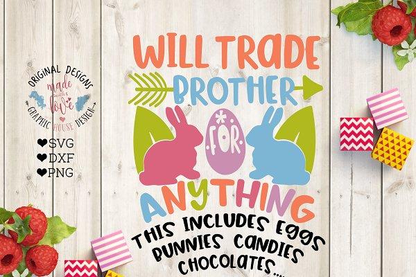 Will Trade Sister For Eggs Pre Designed Illustrator Graphics Creative Market