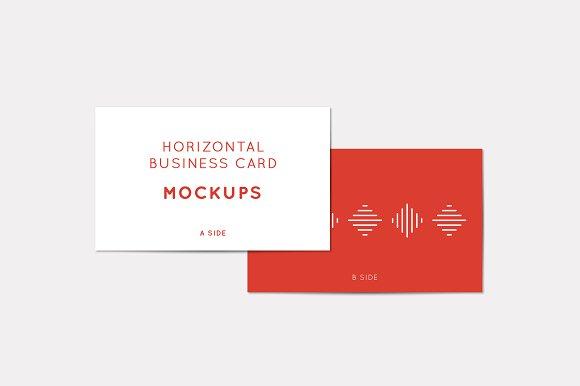 Horizontal Business Card Mockups in Print Mockups