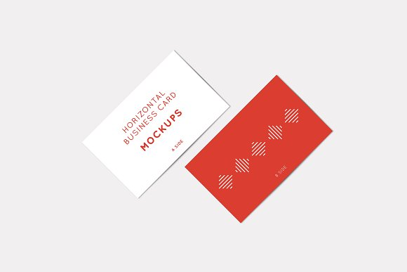 Horizontal Business Card Mockups in Print Mockups - product preview 2