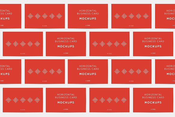 Horizontal Business Card Mockups in Print Mockups - product preview 3