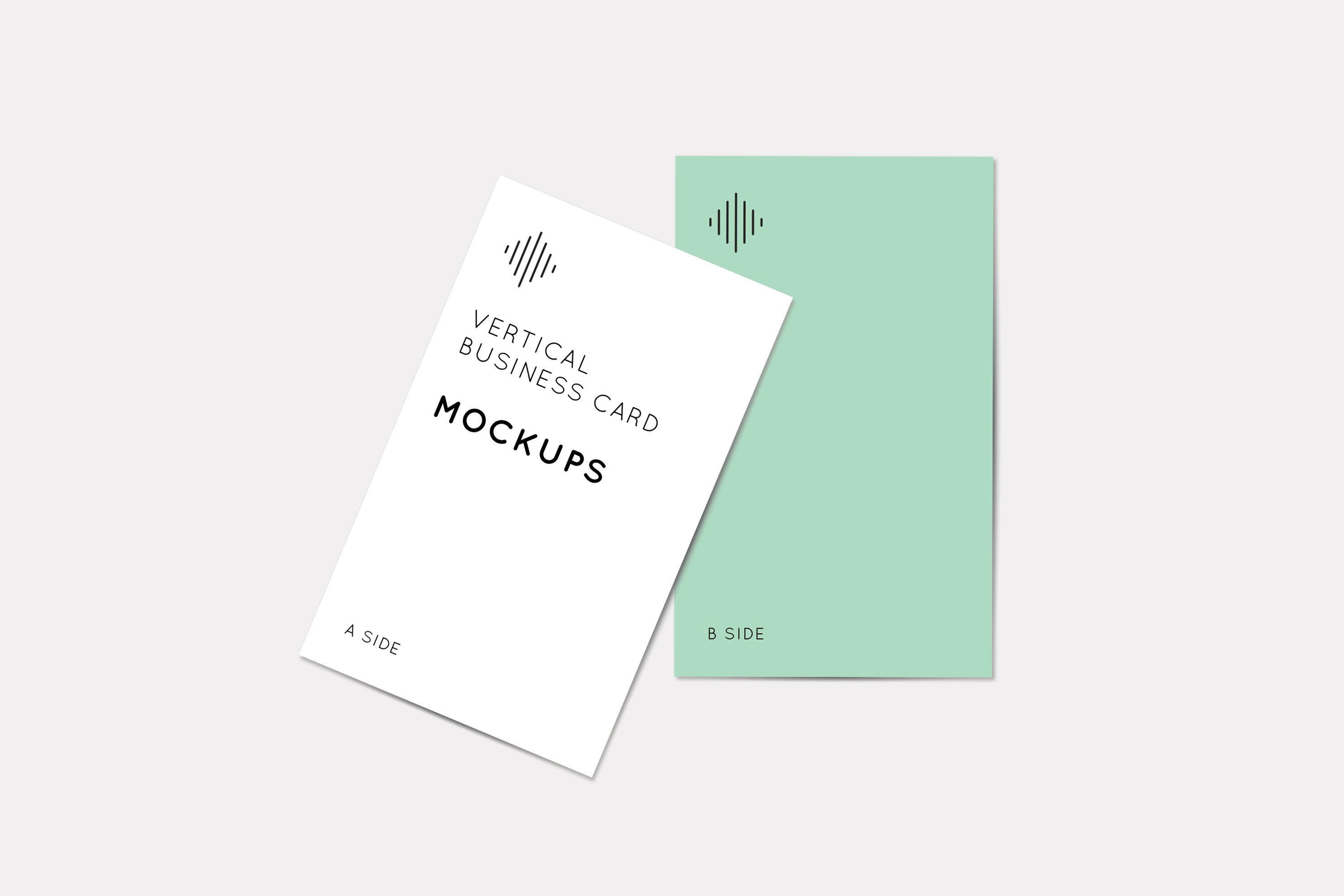 Vertical business card mockups product mockups creative market colourmoves