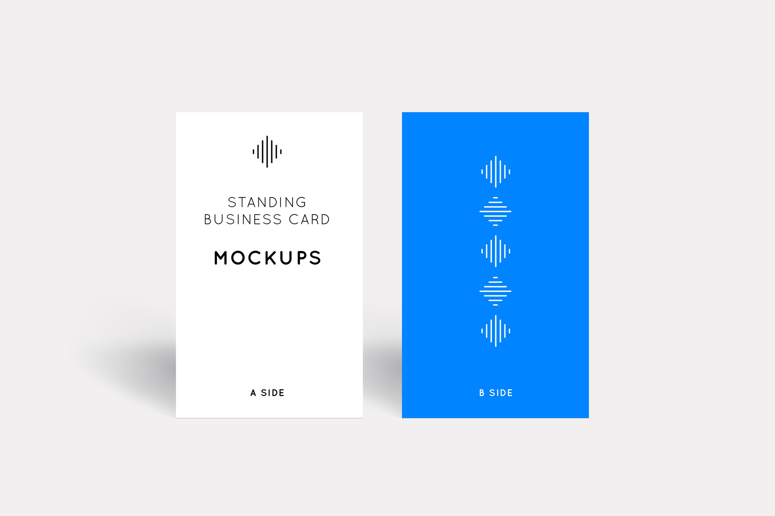 Standing business card mockups product mockups creative market colourmoves