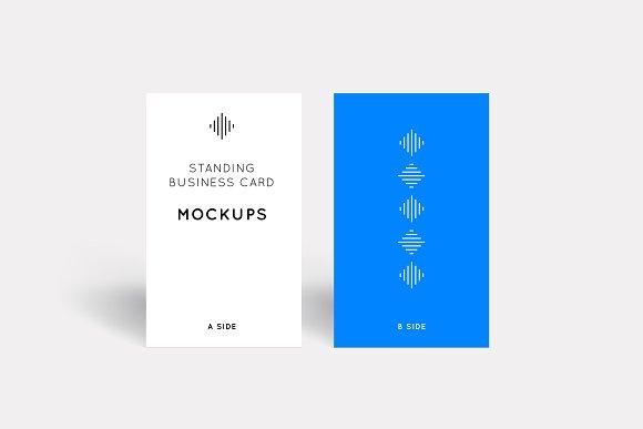 Standing Business Card Mockups