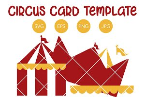Circus Tent Birthday Invitation SVG