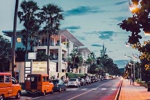 Phuket town, Thailand street