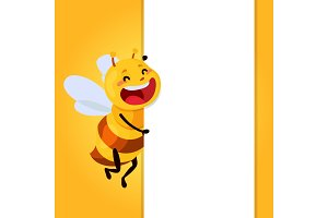 honey and Bee character. honey vector.