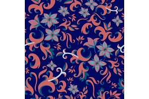 floral textile seamless vector pattern