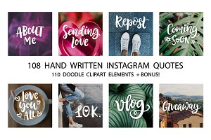 Social Media Lettering Overlays Pack