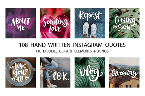 Social Media Lettering Overlays Pack in Objects