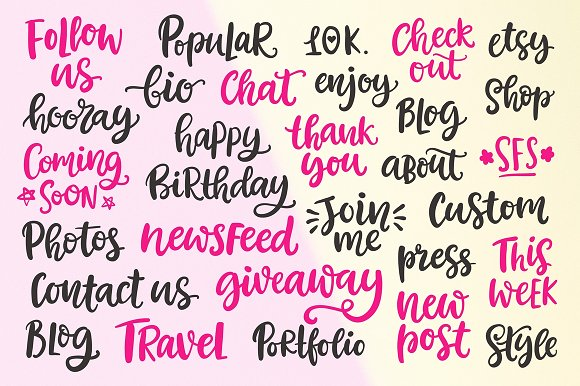 Social Media Lettering Overlays Pack in Objects - product preview 6